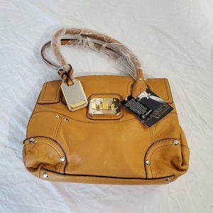 b. makowsky Tan Leather Handbag